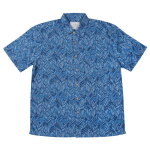 Navy Leaf Men's Shirt