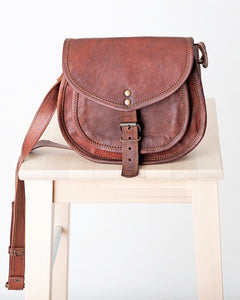 Goat Leather Saddle Bag
