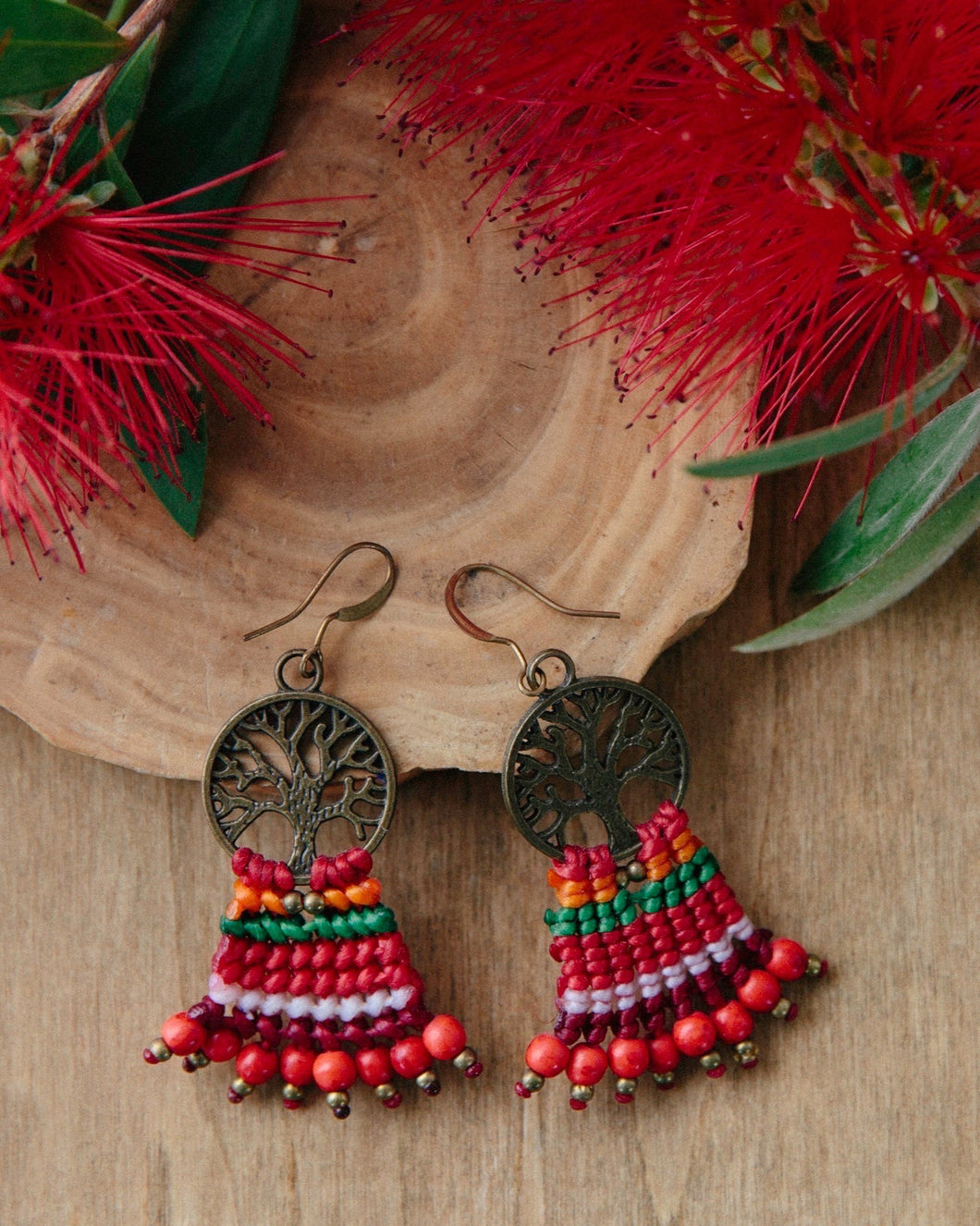 Macrame Tree Earrings