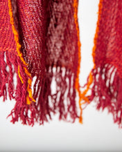 Load image into Gallery viewer, Rusty Red with orange edged stitching Himalayan Scarf