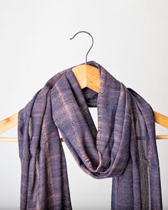 Navy with Dusty Pink Fleck Himalayan Scarf