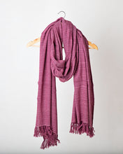 Load image into Gallery viewer, Light Burgundy Chevron Himalayan Stole