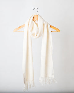 Natural wool and silk Himalayan scarf
