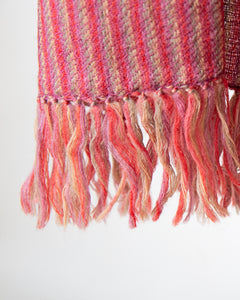 Mauve and Rose Stripe Himalayan Shawl