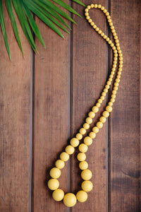 Lola Long Wooden Necklace (many colour options)