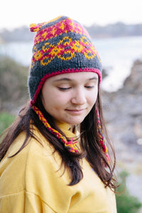 Wool Beanies with ear muff sides