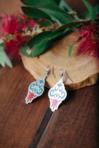 Turquoise Aztec Drop Earrings