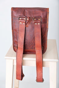 Goat leather Mini backpack rounded corners