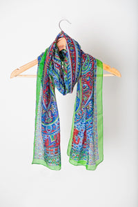 Lightweight silk scarf
