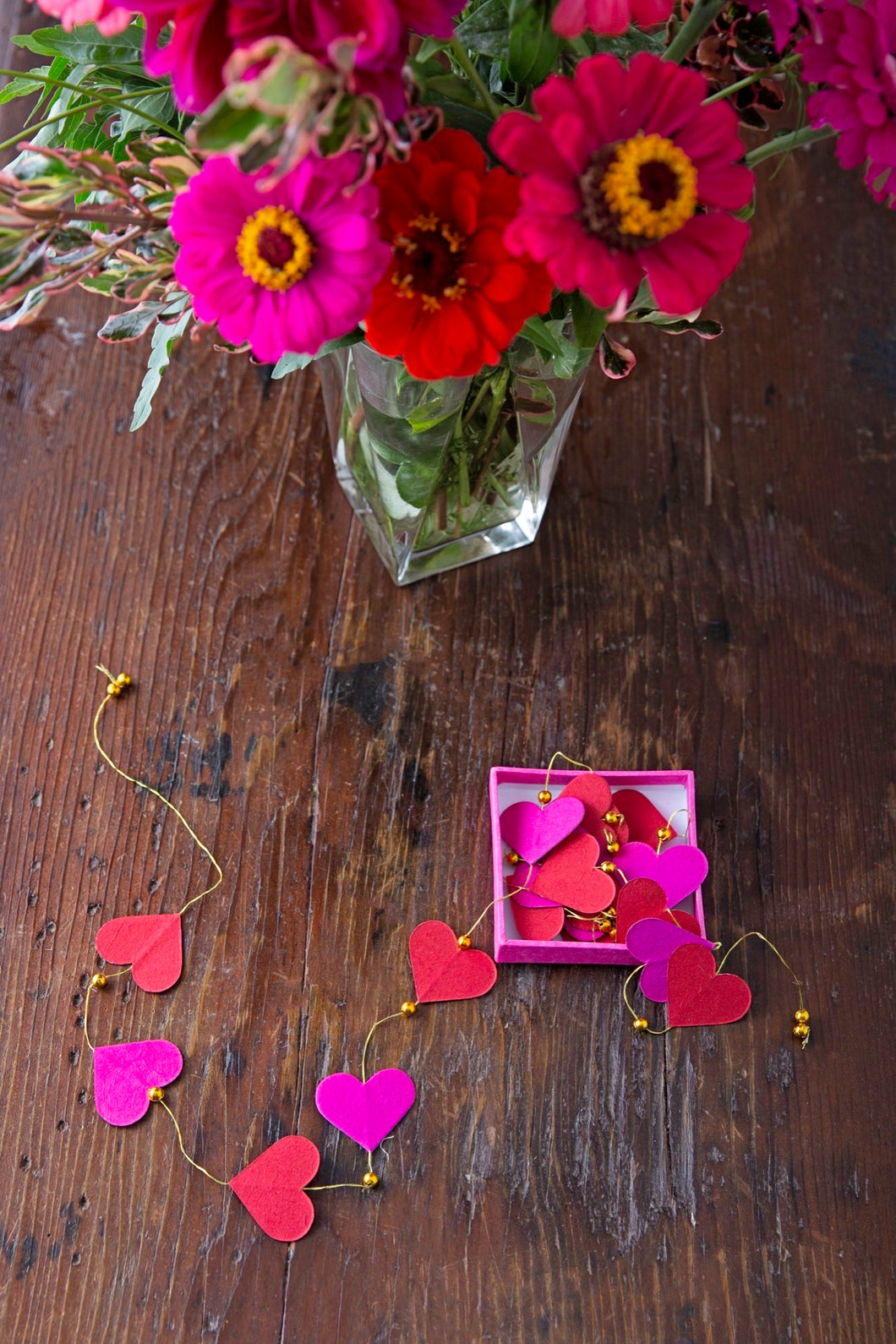 Loving Hearts Paper Garland