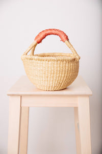 Elephant Grass Natural Basket Mini