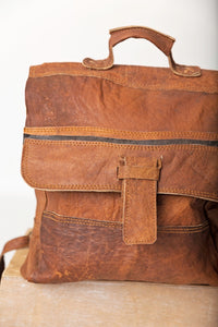 The Bruce Village Leather Backpack