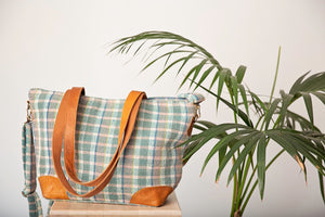 The Lucy Bag Green Check