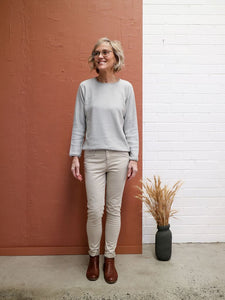 Alpaca Rollo knit top