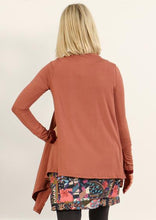 Load image into Gallery viewer, Long Sleeve Stretch Cardi - Salmon