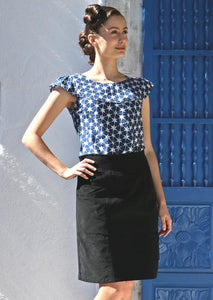 Aalia Cord Skirt in Black