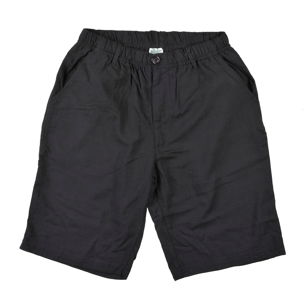 Mens Bamboo Beach Short - Black