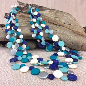 Smarties 3 Strand Coconut Shell Necklace