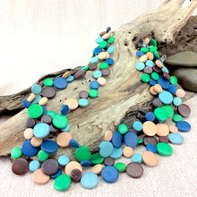 Load image into Gallery viewer, Smarties 3 Strand Coconut Shell Necklace