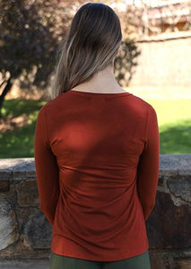 Round Neck Top - Rust