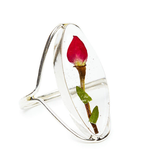 Single Rose Mexican Flowers Seed Ring
