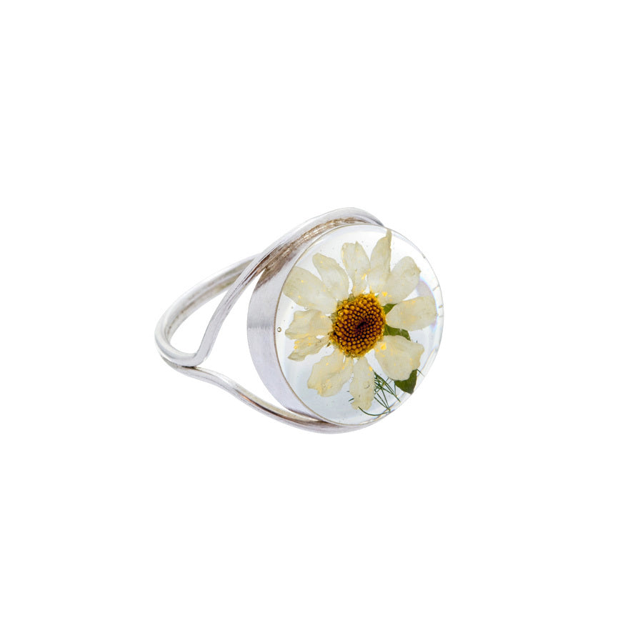 Single Daisy Mexican Flowers Ring