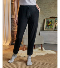 Load image into Gallery viewer, Tapered Soft Jersey Trouser - Black