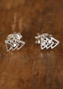Triple Arrow Silver Studs