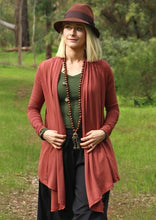 Load image into Gallery viewer, Long Sleeve Stretch Cardi - Terracotta