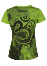 Load image into Gallery viewer, Green Om Stretch Cotton T-Shirt