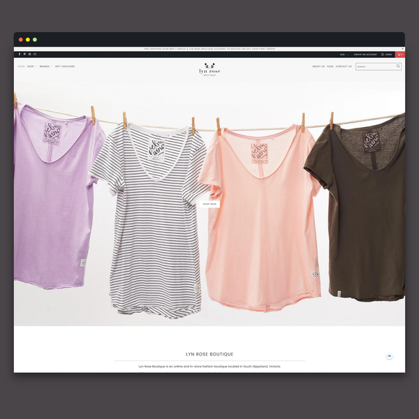 Shopify Design & Development Custom Theme - Lyn Rose Boutique