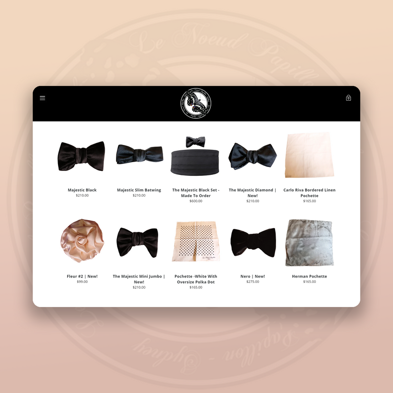 Shopify Design & Development Custom Theme - Le Noeud Papillon