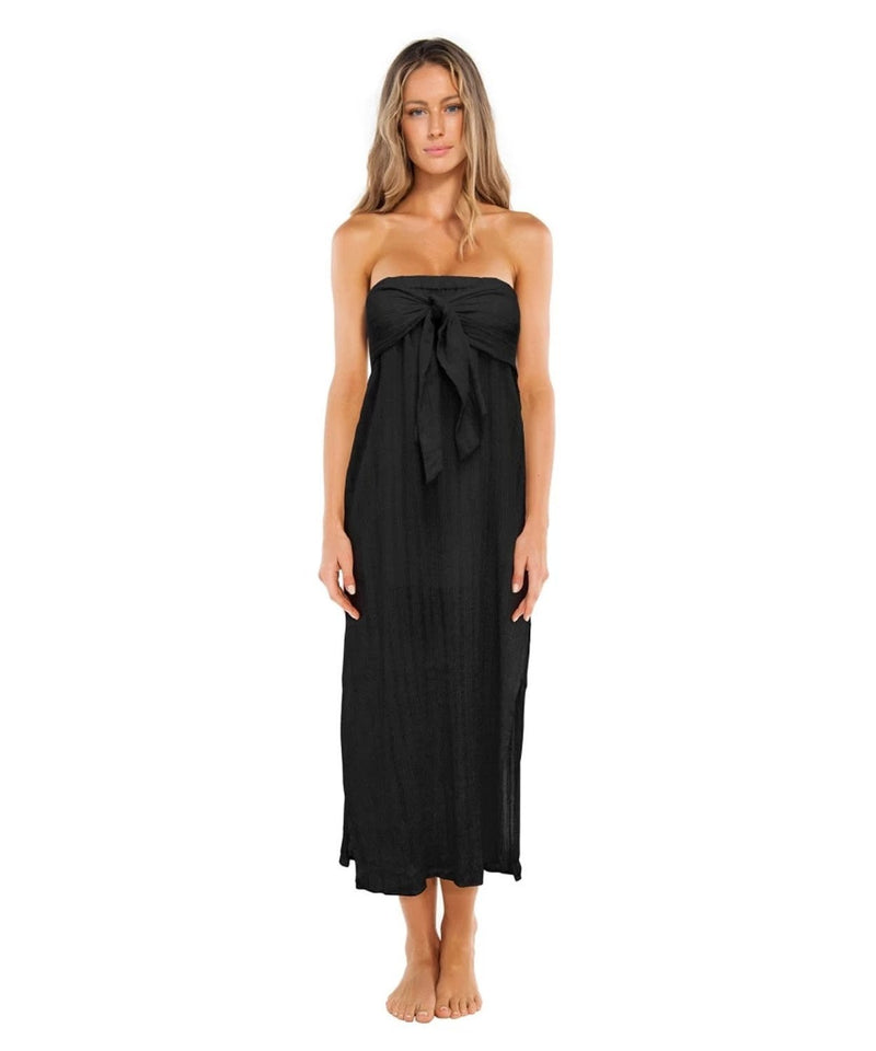 SOLID TESS STRAPLESS DRESS