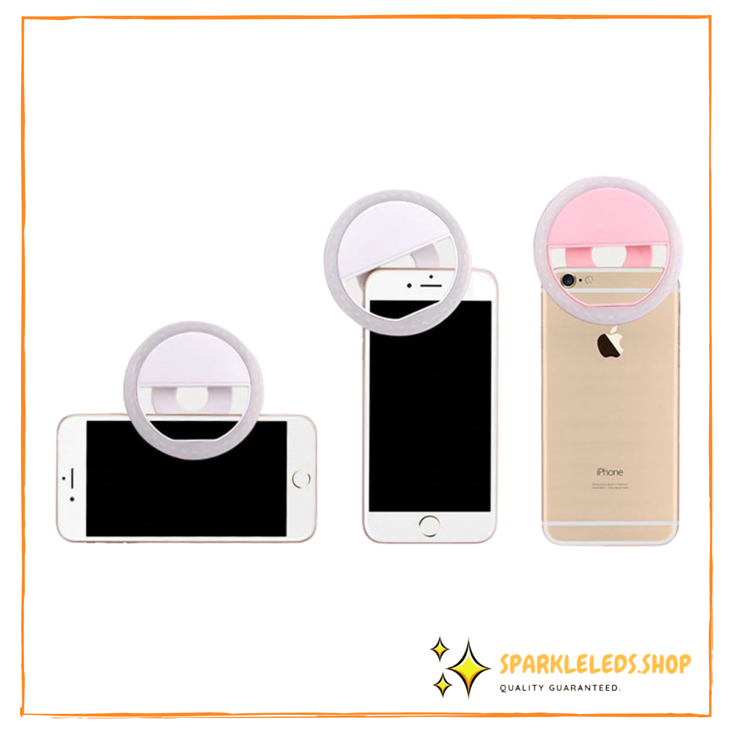 Mini LED Selfie Ring Light for Iphone/Android - USB Charger