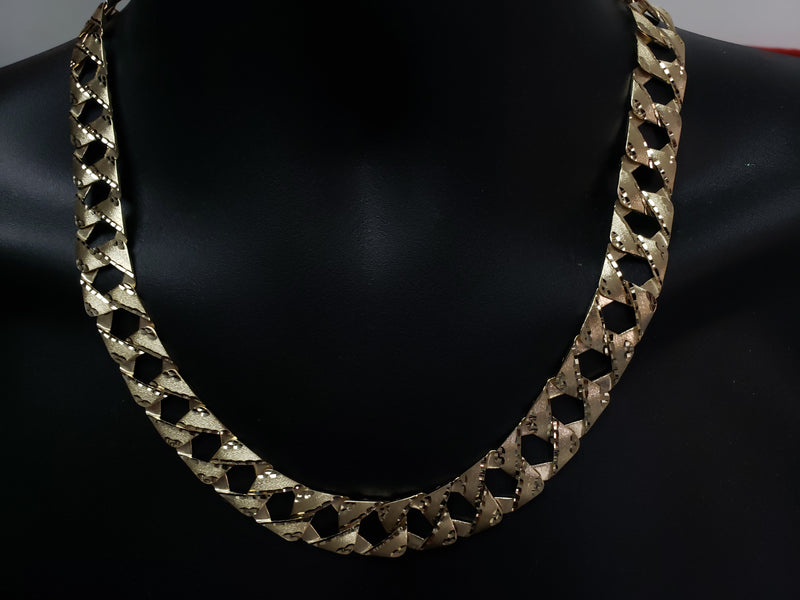10K Casting fait ?  la main Chaine Homme MGC-050 | 10K gold handmade chain for him-Gold Custom