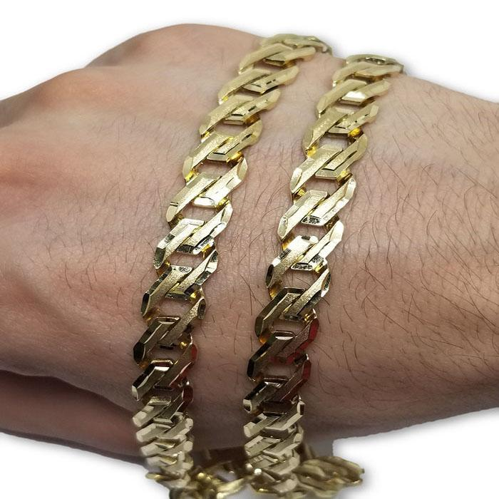 10k Casting fait ?  la main Chaine Homme MGC-055 | Chain in gold 10K handmade for men-Gold Custom