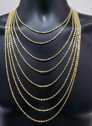Rope Chain 2.8mm Laser Cut 10k Yellow Italian Gold | Torsade 2.8MM couper au laser en or jaune 10kt LC2028-Gold Custom
