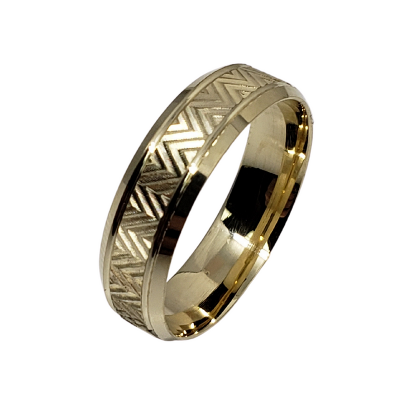 Wedding Band Ring in 10k Yellow Gold WGB-008