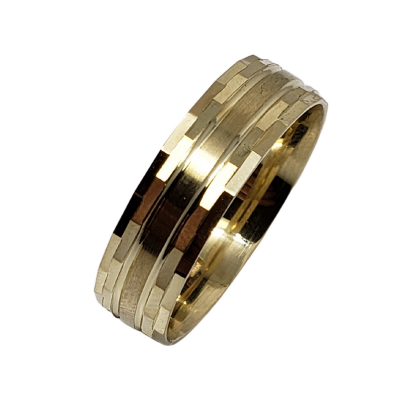 Wedding Band Ring in 10k Yellow Gold WGB-007