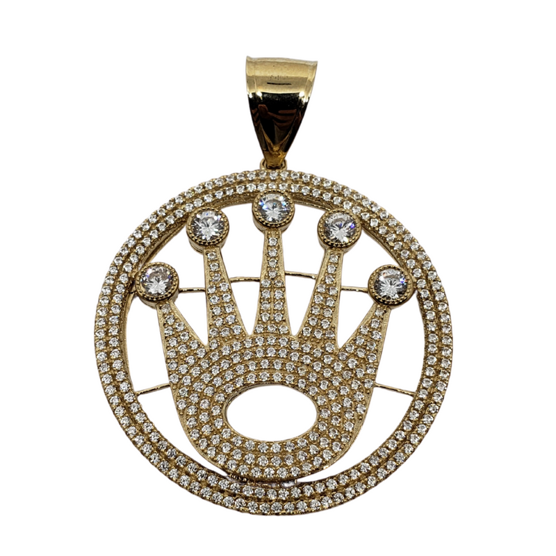 10K Yellow Gold Crown Pendants MP-004