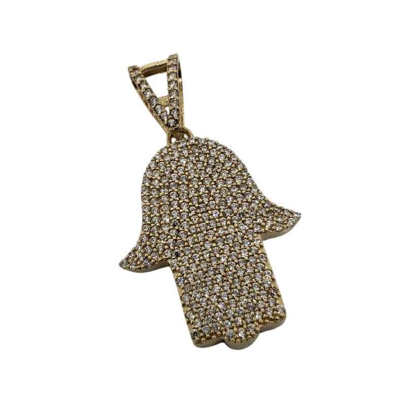 Khamsa Pendant 10k Yellow Gold MP-031