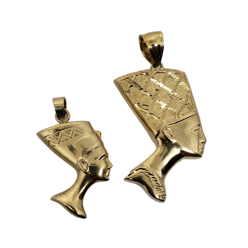 Nefertiti Pendant 10k Yellow Gold MP-021