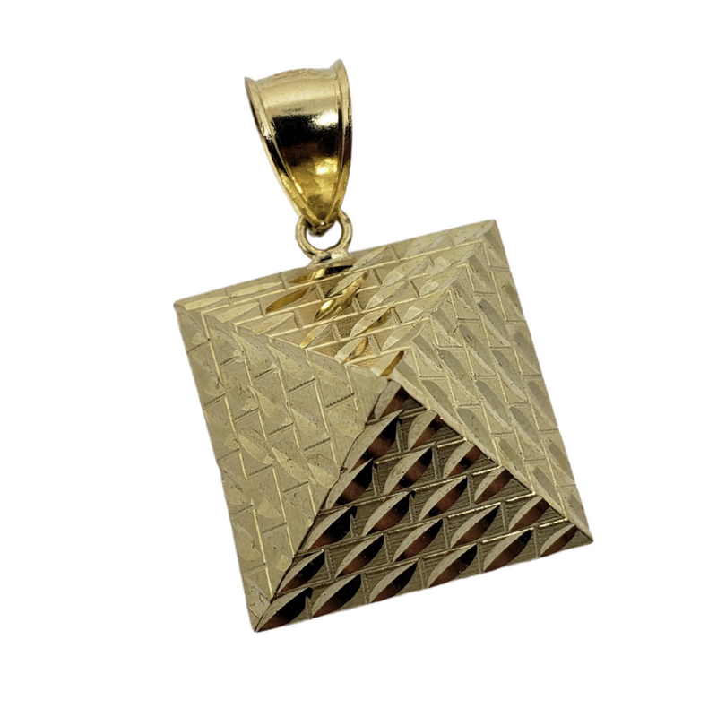 Pyramid Pendant 10k Yellow Gold MP-025