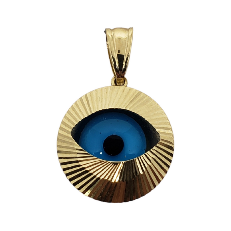 Eye Pendant 10k Yellow Gold MP-027