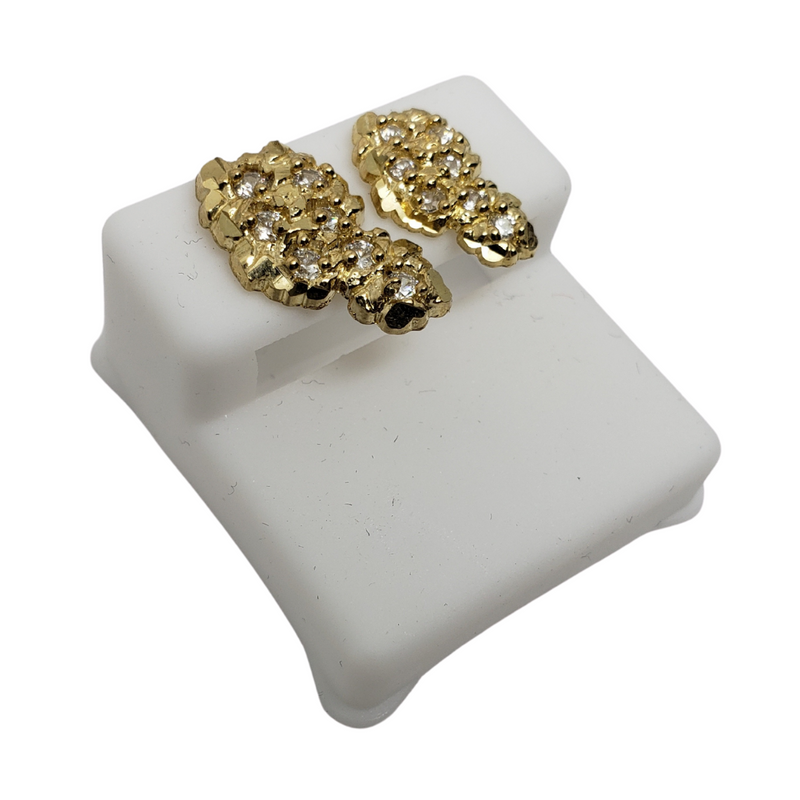 10k Yellow Gold Stud Earring BD-0038