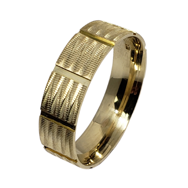 Wedding Band Ring in 10k Yellow Gold WGB-004