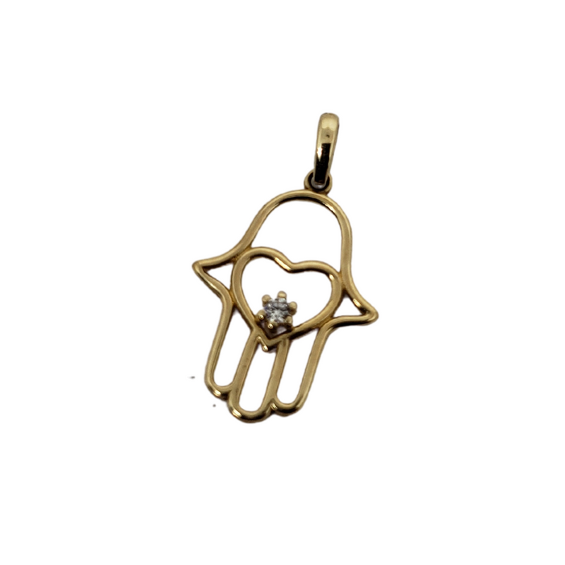 Khamsa Pendant 10k Yellow Gold MP-042