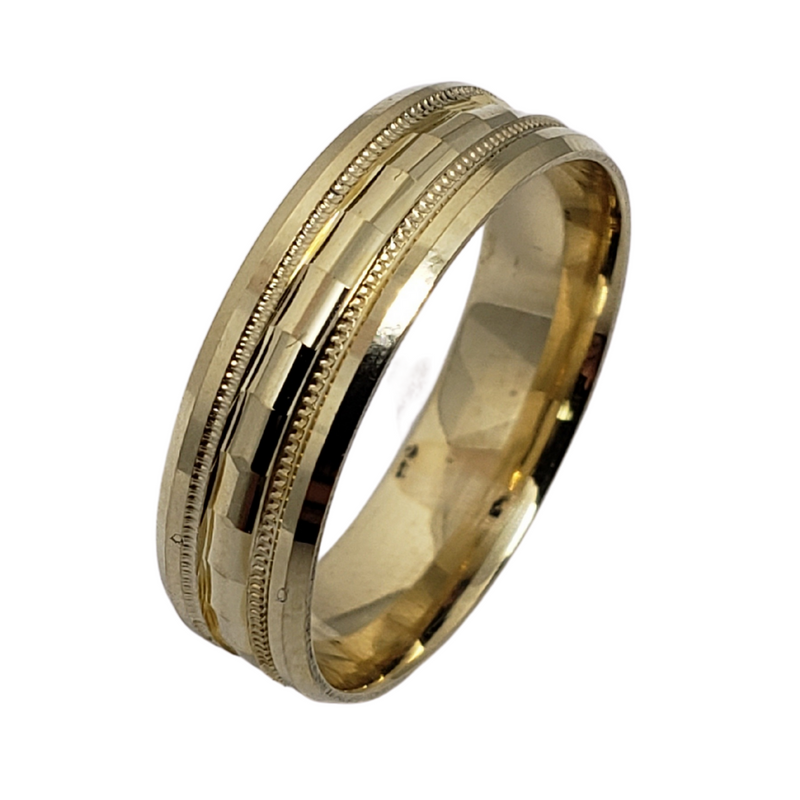 Wedding Band Ring in 10k Yellow Gold WGB-005
