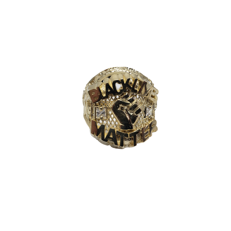 BLM 10K Gold Ring For Men LA008