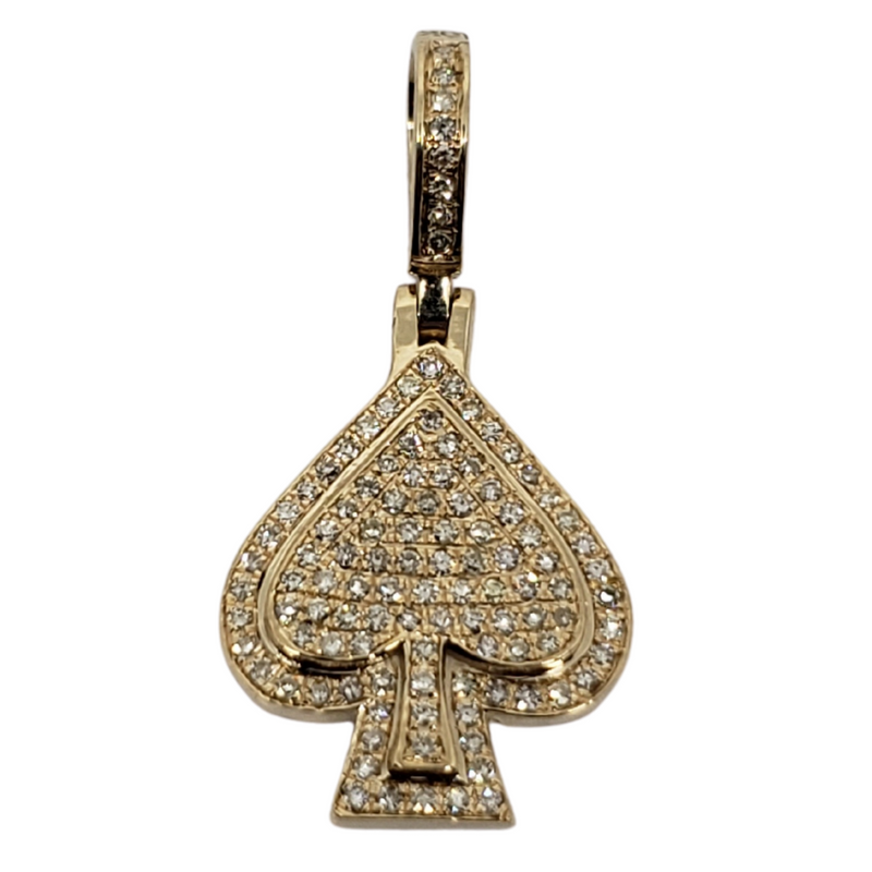 Dunno 1.10ct Gold Pendant in 10k Gold SP 13764